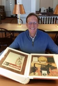 Andrew looking at Houdini publications